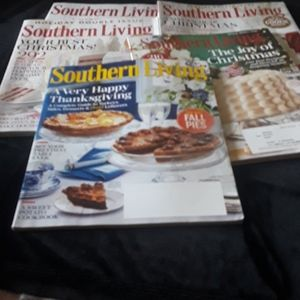 Four Southern Living Christmas Holiday Magazines